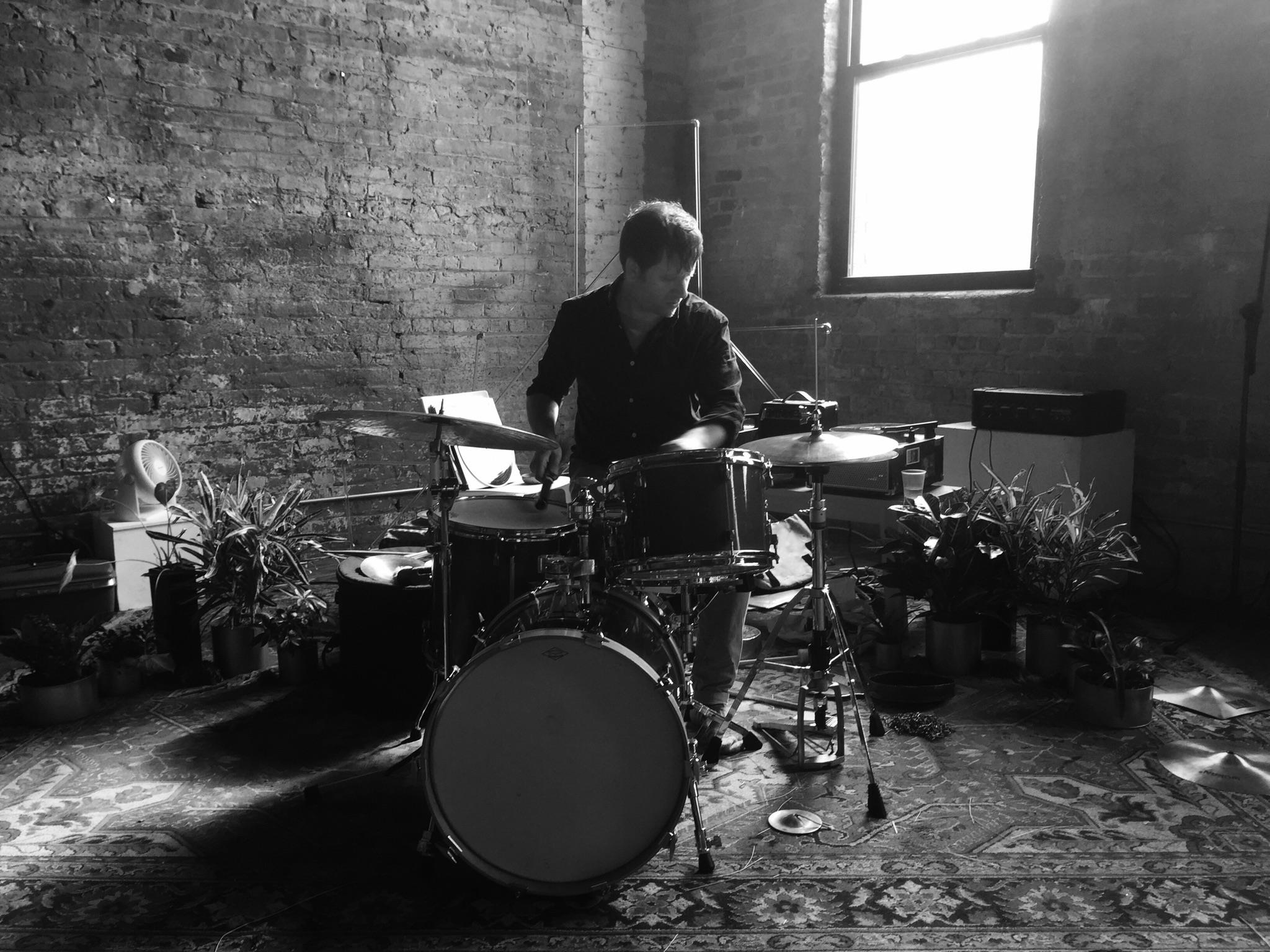 Tim Daisy playing the drums